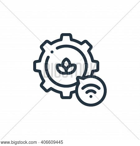 settings icon isolated on white background from smart farm collection. settings icon thin line outli