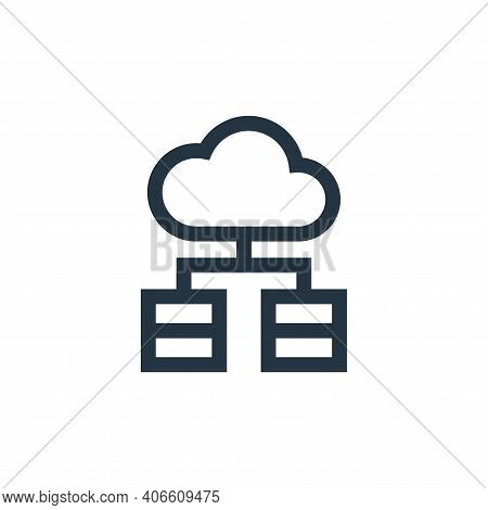 servers icon isolated on white background from marketing and growth collection. servers icon thin li