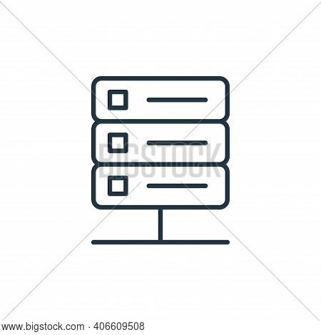 server icon isolated on white background from internet of things collection. server icon thin line o