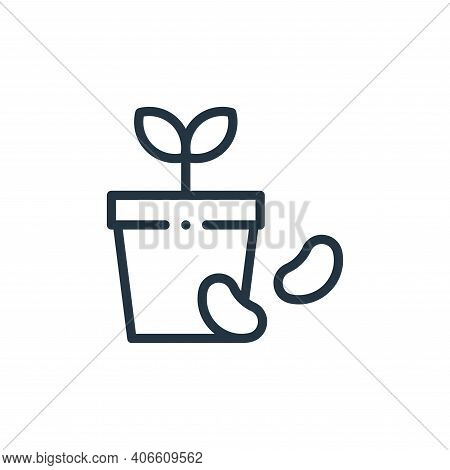 seed icon isolated on white background from ecology collection. seed icon thin line outline linear s