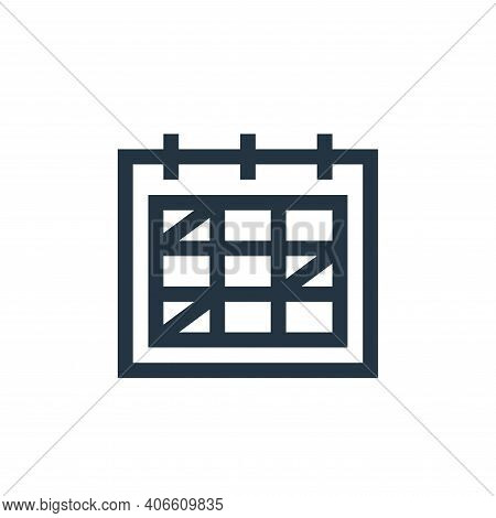 schedule icon isolated on white background from management collection. schedule icon thin line outli