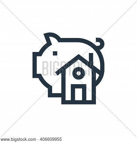 savings icon isolated on white background from real estate collection. savings icon thin line outlin