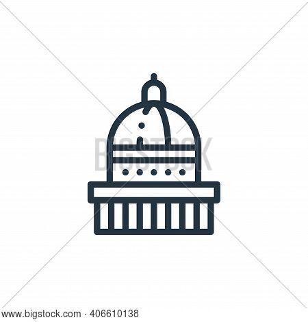 saint paul cathedral icon isolated on white background from europe collection. saint paul cathedral