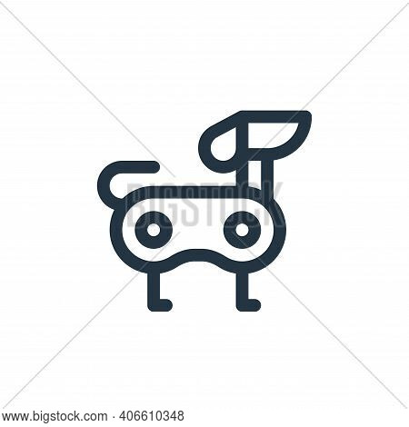 robot dog icon isolated on white background from technology of the future collection. robot dog icon