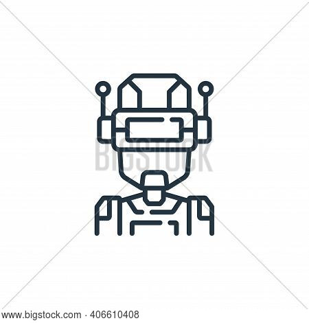 robot icon isolated on white background from fantastic characters collection. robot icon thin line o