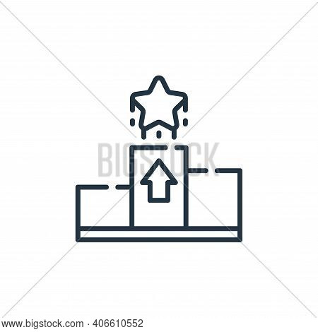 rising icon isolated on white background from fame collection. rising icon thin line outline linear