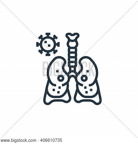 respiratory system icon isolated on white background from coronavirus collection. respiratory system