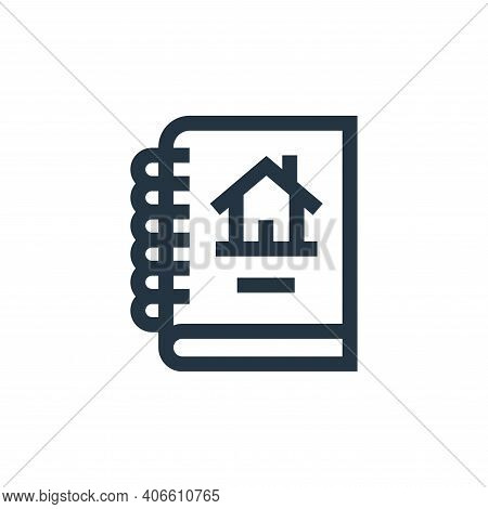 report icon isolated on white background from real estate collection. report icon thin line outline