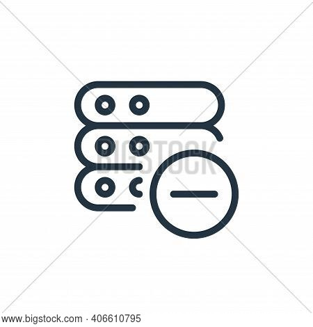 remove icon isolated on white background from work office server collection. remove icon thin line o