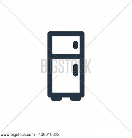 refrigerator icon isolated on white background from holiday collection. refrigerator icon thin line