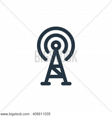 radio antenna icon isolated on white background from communication and media collection. radio anten
