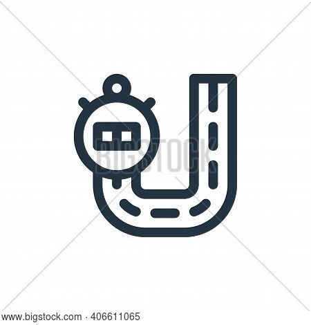 race track icon isolated on white background from auto racing collection. race track icon thin line