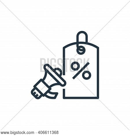promotion icon isolated on white background from branding collection. promotion icon thin line outli