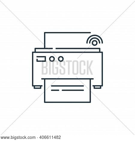 printer icon isolated on white background from internet of things collection. printer icon thin line