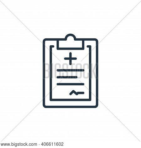 prescription icon isolated on white background from stop virus collection. prescription icon thin li