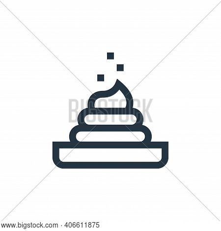 poop icon isolated on white background from pet shop collection. poop icon thin line outline linear