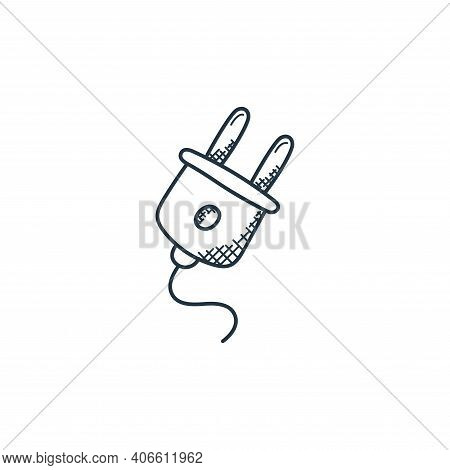 plug icon isolated on white background from technology collection. plug icon thin line outline linea