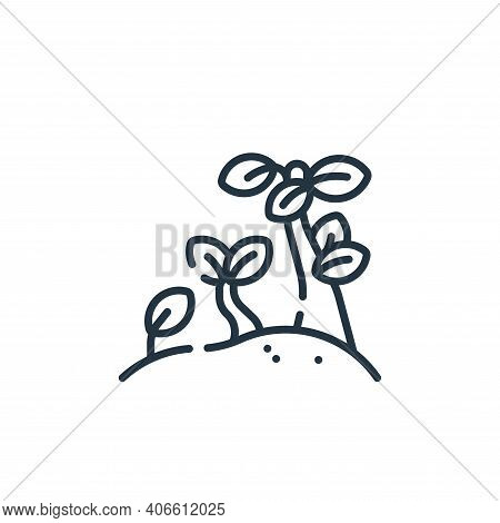 plant icon isolated on white background from hope collection. plant icon thin line outline linear pl
