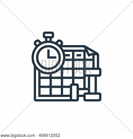 planning icon isolated on white background from fitness collection. planning icon thin line outline