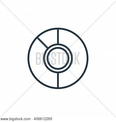 pie chart icon isolated on white background from school collection. pie chart icon thin line outline