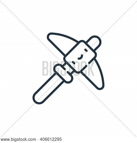 pick icon isolated on white background from desert collection. pick icon thin line outline linear pi