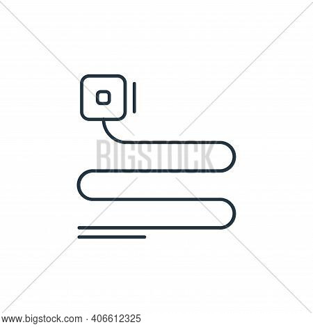phone cable icon isolated on white background from network and database collection. phone cable icon