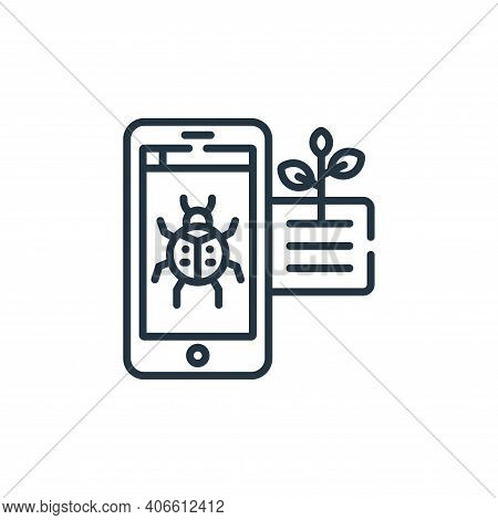 pest icon isolated on white background from smart farm collection. pest icon thin line outline linea