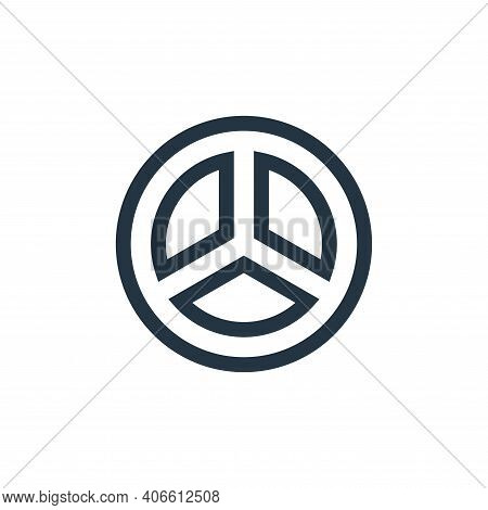 peace icon isolated on white background from hippies collection. peace icon thin line outline linear