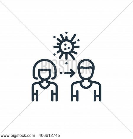 pandemic icon isolated on white background from virus spread collection. pandemic icon thin line out