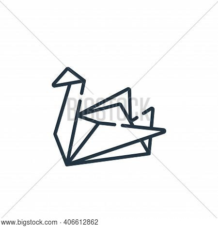 origami icon isolated on white background from hope collection. origami icon thin line outline linea