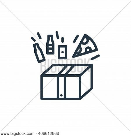 order icon isolated on white background from work from home collection. order icon thin line outline