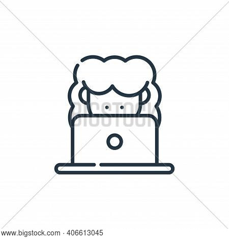 online icon isolated on white background from telecommuting collection. online icon thin line outlin