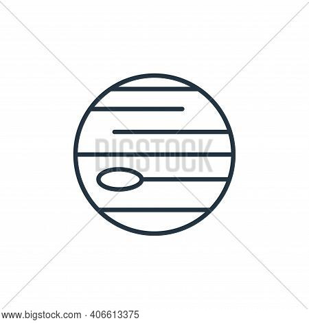 neptune icon isolated on white background from space collection. neptune icon thin line outline line