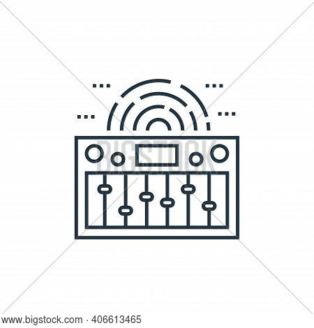 music equalizer icon isolated on white background from technology devices collection. music equalize