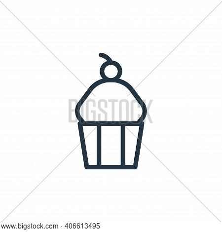 muffin icon isolated on white background from food collection. muffin icon thin line outline linear