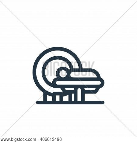 mri icon isolated on white background from medical tools collection. mri icon thin line outline line