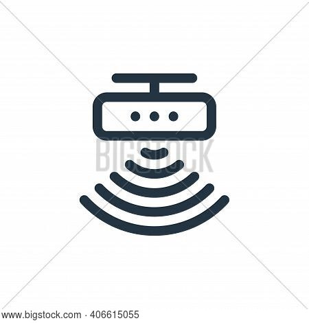 motion sensor icon isolated on white background from virtual reality collection. motion sensor icon