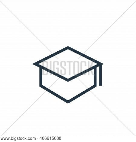 mortarboard icon isolated on white background from education collection. mortarboard icon thin line