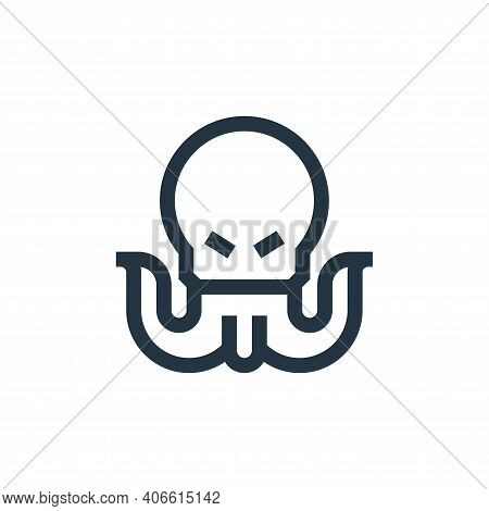 monster icon isolated on white background from video game elements collection. monster icon thin lin
