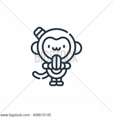 monkey icon isolated on white background from circus collection. monkey icon thin line outline linea