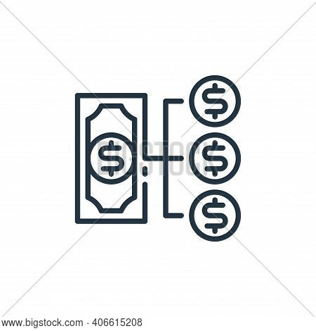 money management icon isolated on white background from money and currency collection. money managem
