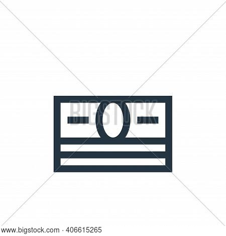 money icon isolated on white background from rock and roll collection. money icon thin line outline