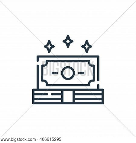 money icon isolated on white background from fame collection. money icon thin line outline linear mo