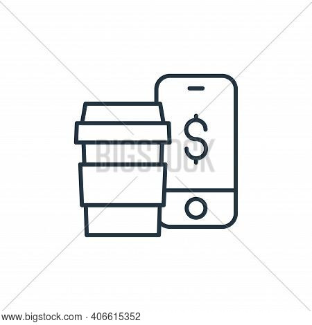 mobile payment icon isolated on white background from ecommerce collection. mobile payment icon thin