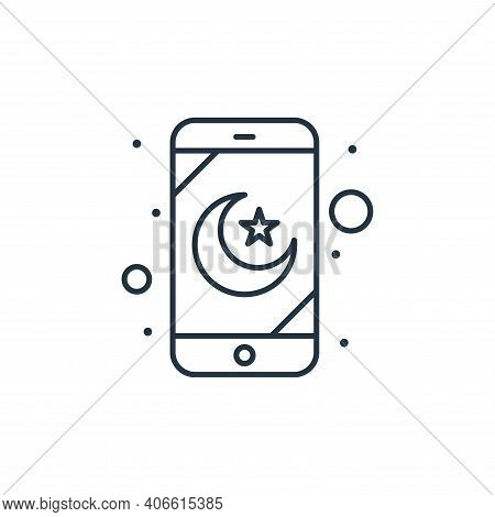mobile app icon isolated on white background from islam and ramadan collection. mobile app icon thin
