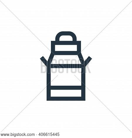 milk can icon isolated on white background from holland collection. milk can icon thin line outline