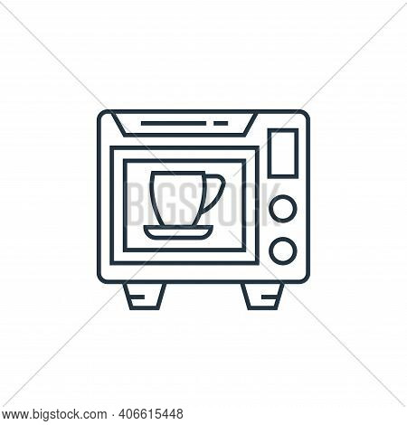 microwave oven icon isolated on white background from technology devices collection. microwave oven