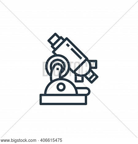 microscope icon isolated on white background from hospital collection. microscope icon thin line out