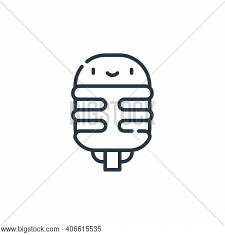 microphone icon isolated on white background from reggae collection. microphone icon thin line outli
