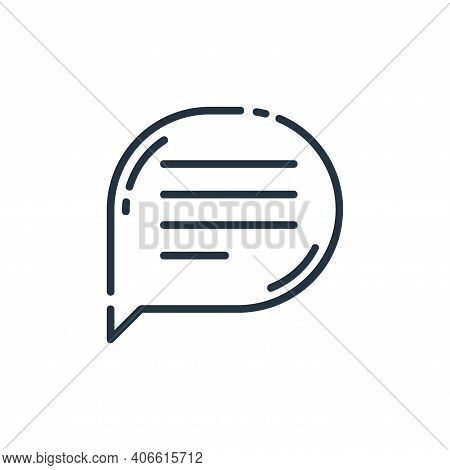 message icon isolated on white background from user interface collection. message icon thin line out